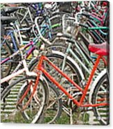 Parking Bicycles In Mako Acrylic Print
