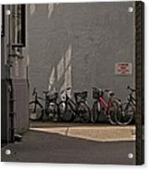 Parking In Rear Acrylic Print by Odd Jeppesen