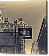 Parking In Sepia Acrylic Print