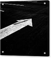 Parking Lot Pavement Arrow Number 2 Acrylic Print