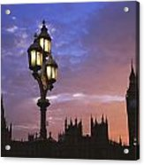 Parliament And Light At Sunset Acrylic Print
