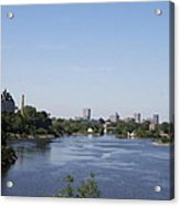Parliament And Ottawa River  Acrylic Print