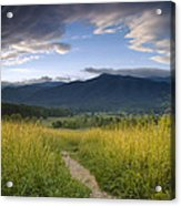 Parting Clouds At The Smokies Acrylic Print by Andrew Soundarajan