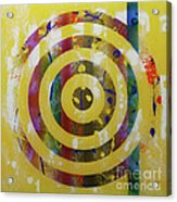 Party- Bullseye 2 Acrylic Print by Mordecai Colodner