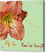 Party Invitation - Orange Day Lily Acrylic Print