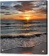 Pass-a-grille Beach Sunset Acrylic Print