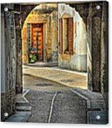 Passageway And Arch In Provence Acrylic Print