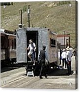 Passengers Getting Off The Galloping Goose Acrylic Print