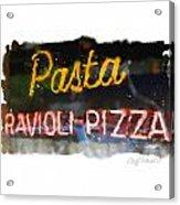 Pasta Acrylic Print by Geoff Strehlow