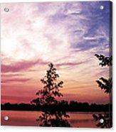 Pastel Pink Sunset Acrylic Print