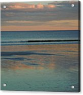 Pastel Reflections On The Coast Acrylic Print