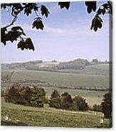 Pastoral Scene In Hampshire Acrylic Print