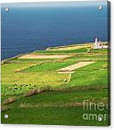 Pastures And Lighthouse Acrylic Print