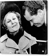 Pat Nixon Grasps Her Husbands Hand Acrylic Print by Everett