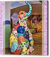Patchwork Elephant Acrylic Print