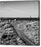 Path Around Calton Hill Looking Towards The Firth Of Forth And Triangulation Point Edinburgh Scotlan Acrylic Print