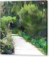 Path Into The Green Acrylic Print