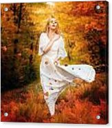 Path Of Fall Acrylic Print