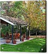 Patio Dining Madrid Acrylic Print