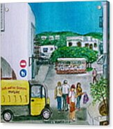 Patmos Fish Monger Acrylic Print
