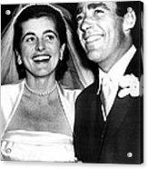 Patricia Kennedy Lawford And Husband Acrylic Print by Everett