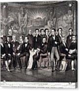 Patriotic Irish-american Print Ca. 1875 Acrylic Print by Everett