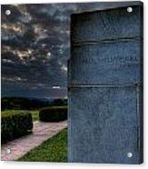 Paul Cret Gettysburg Monument Acrylic Print by Andres Leon