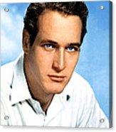 Paul Newman, Portrait Ca. 1950s Acrylic Print by Everett