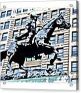 Paul Revere Galloping Statue Acrylic Print