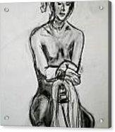 Paula - Charcoal Life Drawing Acrylic Print