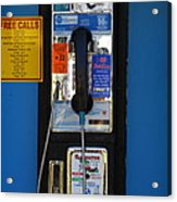 Pay Phone . 7d15934 Acrylic Print by Wingsdomain Art and Photography