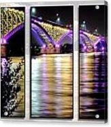 Peace Bridge 02 Triptych Series Acrylic Print