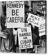 Peace Protest, 1962 Acrylic Print