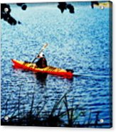 Peaceful Canoe Ride Ll Acrylic Print