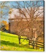 Peaceful Farm In Autumn Acrylic Print