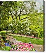 Peaceful Spring Park Acrylic Print by Cheryl Davis