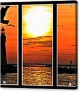 Peaceful Sunset Triptych Series Acrylic Print