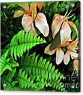 Peach Floral Acrylic Print