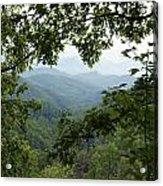 Peak At The Mountains Acrylic Print