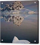Peak On Wiencke Island Antarctic Acrylic Print by Colin Monteath