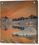 Peaks At Sunset Wiencke Island Acrylic Print by Colin Monteath