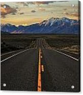 Peaks To Craters Highway Acrylic Print by Benjamin Yeager