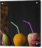 Pear And Apple And Orange Acrylic Print