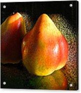 Pear Aura Acrylic Print
