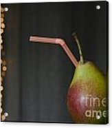 Pear With Straw Acrylic Print