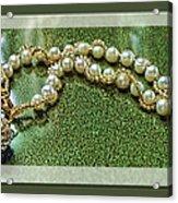 Pearl Bracelet Acrylic Print