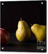 Pears And Peach Acrylic Print
