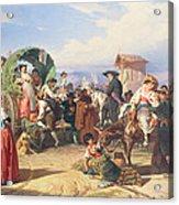 Peasants Of The Campagna Acrylic Print