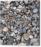 Pebble Beach Rocks, Maine Acrylic Print