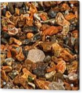 Pebbles And Stones On The Beach Acrylic Print